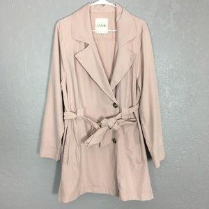 Jaime thin pink trench coat 2x